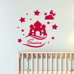 Sticker Un palais sous une nuit étoilée