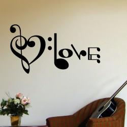 Sticker Amour musique