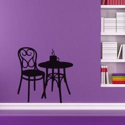 Sticker Boisson chaude sur une table