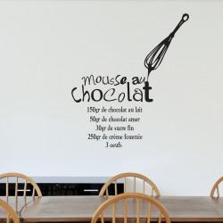 """Sticker recette """" Mousse au chocolat """""""