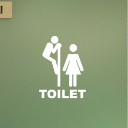 Sticker porte Figure WC