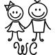 Sticker porte Figure WC 3
