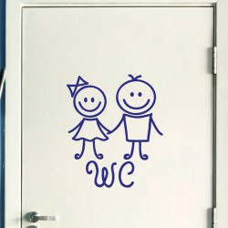 Sticker porte Figure WC 3