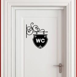 Sticker Plaque pour WC 1