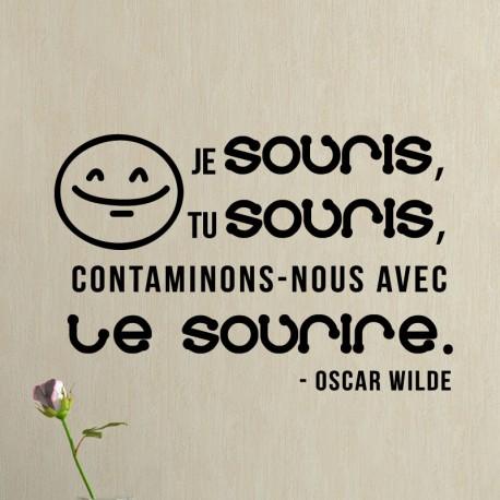 Sticker Le sourir selon Oscar Wilde