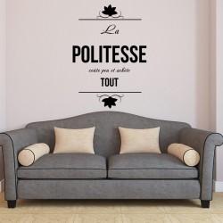 Sticker La politesse