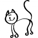 Sticker Chat style enfantin
