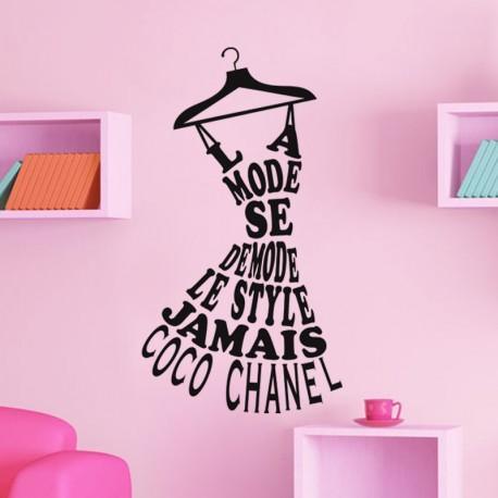 Sticker Le style Coco Chanel pas cher - Stickers Calligraphies ... dc9daa9fcc4