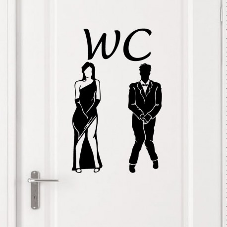 Sticker design wc pas cher stickers personnages discount for Stickers wc porte