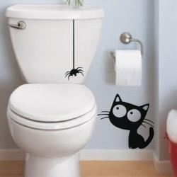 Sticker Chat et araignée