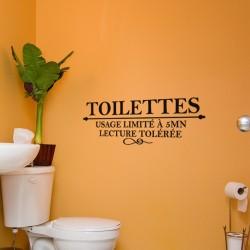 Sticker Toilettes Usage limité à 5 mn