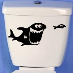 Sticker gros poisson et les petits poissons