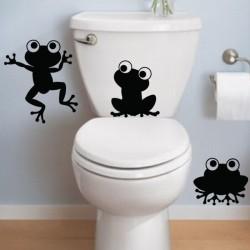 Sticker Trois grenouilles