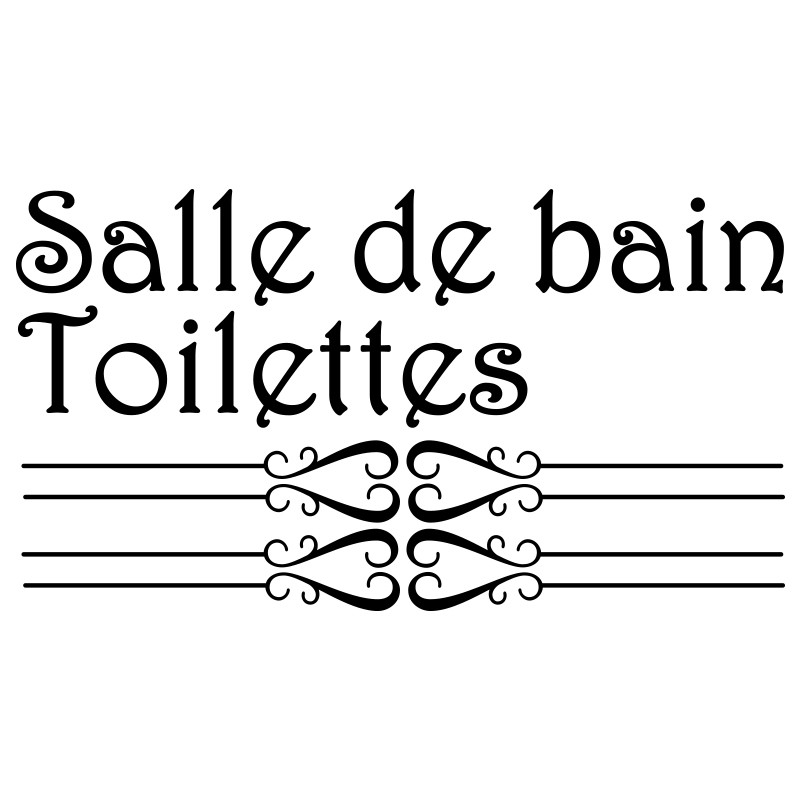 sticker porte salle de bain et toilettes pas cher stickers citations discount stickers. Black Bedroom Furniture Sets. Home Design Ideas