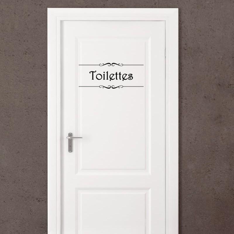 Sticker porte salle de bain et toilettes pas cher for Stickers porte meuble salle de bain