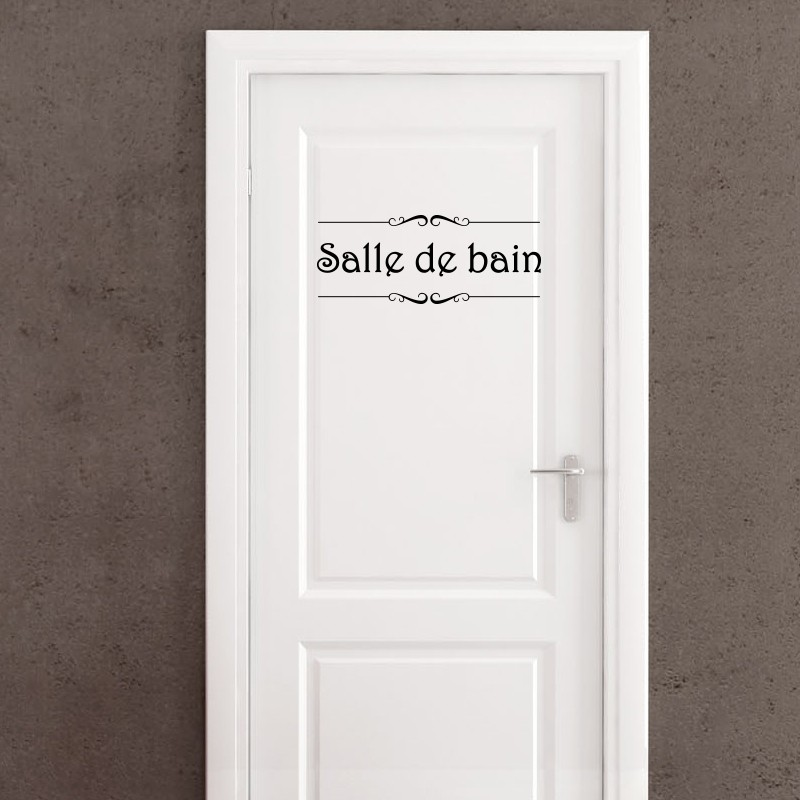 Sticker Porte Salle De Bain Et Toilettes Pas Cher Stickers Citations Discount Stickers