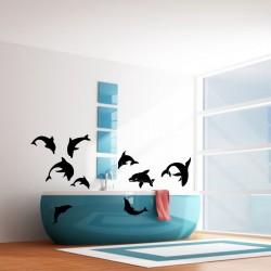 Sticker Troupes de dauphins