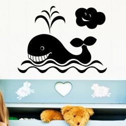 Stickers Baleine et Nuage