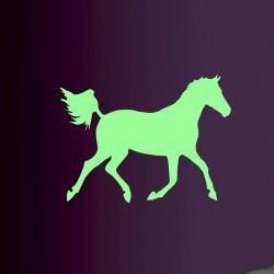 Sticker phosphorescent cheval au galop