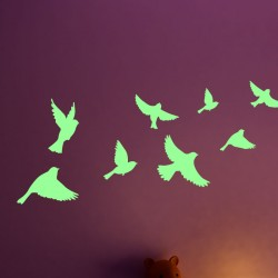 Sticker Phosphorescent oiseaux