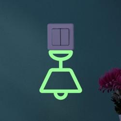 Sticker phosphorescent lampe suspendue