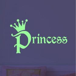 Sticker phosphorescent princesse
