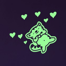 Sticker phosphorescent chaton 2