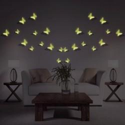 Stickers papillons 3D phosphorescents