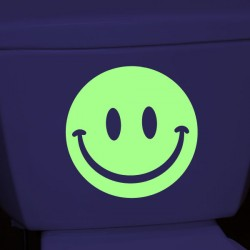 Sticker smiley phosphorescents