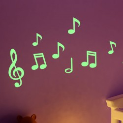 Sticker Phosphorescent notes de musique