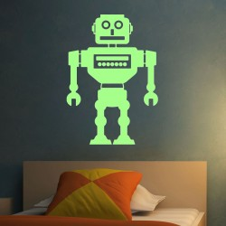 Stickers Phosphorescents Robot
