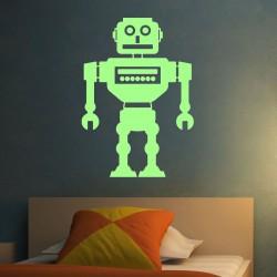 Stickers Phosphorescents Robot