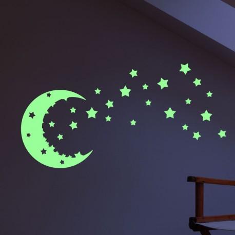 Ciel étoilé phosphorescent