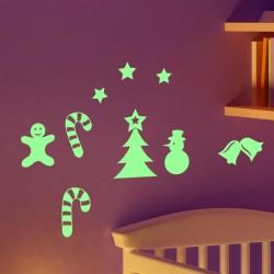 Sticker phosphorescent éléments de Noël 1