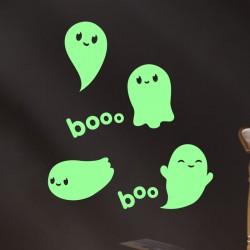Sticker Phosphorescent petits fantômes