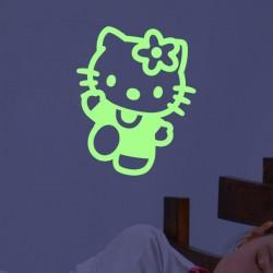 Sticker phosphorescent Hello Kitty
