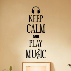 Sticker Keep Calm and Play Music