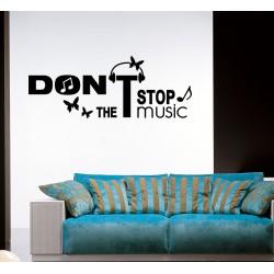Sticker Ne pas arrêter la musique