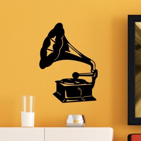 Sticker Gramophone
