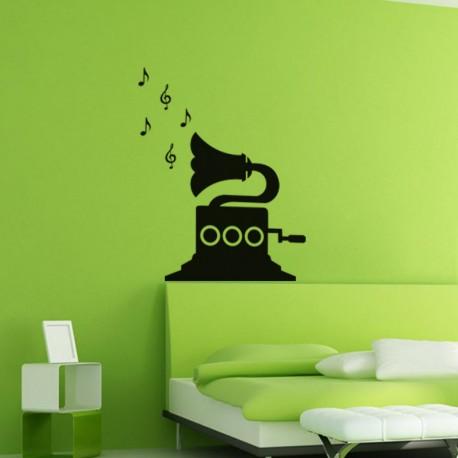 Sticker Design Gramophone
