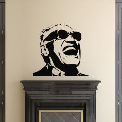 Sticker Portrait Ray Charles