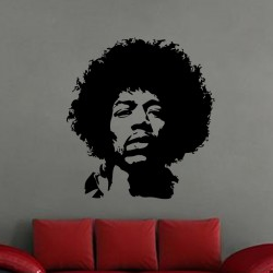 Sticker Portrait Jimi Hendrix