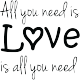 Sticker All You need is love is all you need