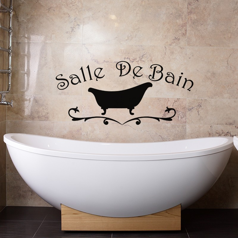 sticker salle de bain design baignoire pas cher stickers design discount stickers muraux. Black Bedroom Furniture Sets. Home Design Ideas