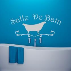 Sticker Salle de bain design baignoire