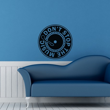 Sticker Vinyle Don't stop the music