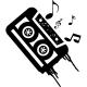 Sticker Cassette de musique