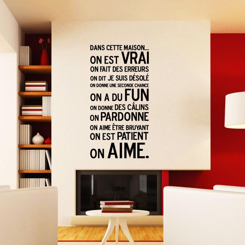 sticker dans cette maison pas cher stickers. Black Bedroom Furniture Sets. Home Design Ideas