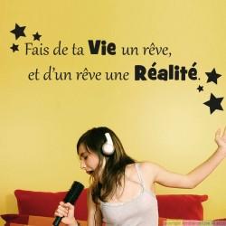 Sticker Fais de ta vie un rêve