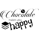 Sticker Chocolate makes you happy